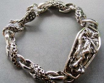 Alloy Metal Dragon Bracelet Men's Jewelry  T1864