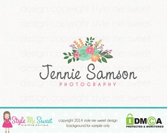 flower logo design florist logo design premade logo design photography logo graphic design photographers logo bespoke logo design watermark