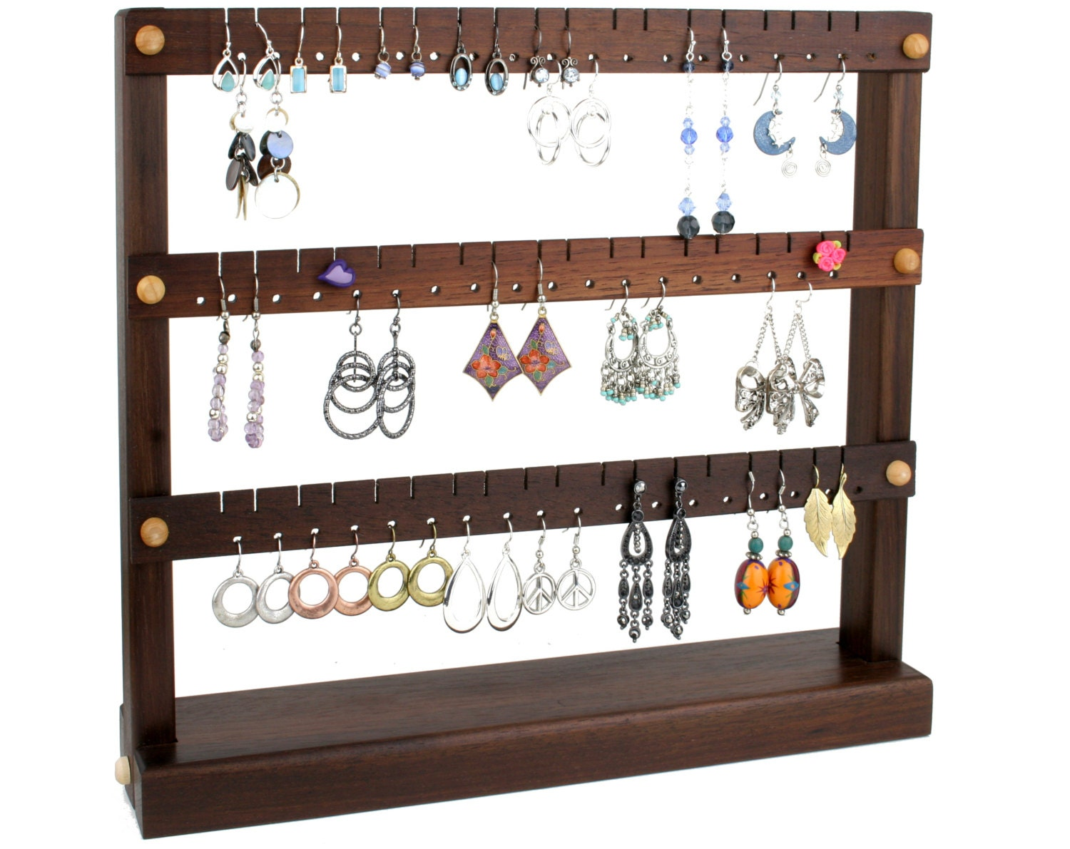 earring holder jewelry organizer stand compact jewelry. Black Bedroom Furniture Sets. Home Design Ideas