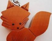 Japanese Cute Fox Wooden Keychain.80s
