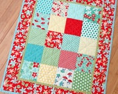 "Doll Quilt – ""April Showers Red"""