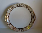 1920s Noritake Pattern 20056  Handled Cake Plate and a Dinner Plate