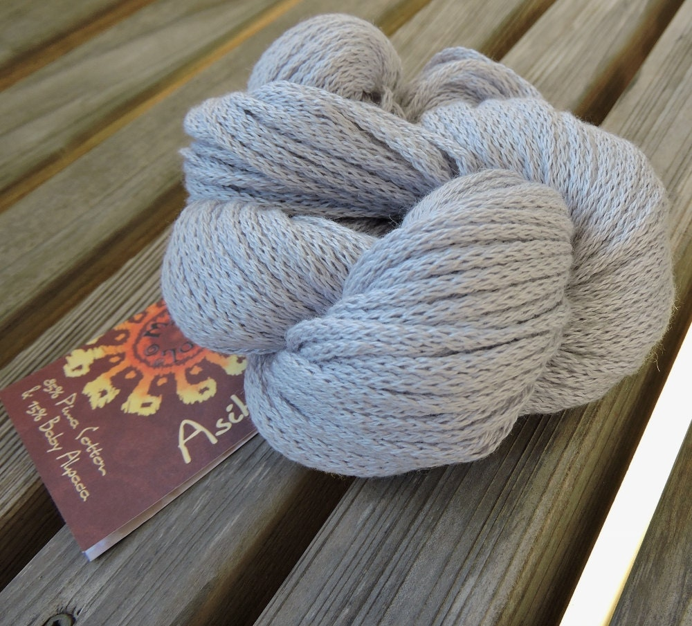 Aran Or Worsted Weight Yarn Pima Cotton And Baby Alpaca