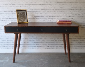 "Bloom Desk 54"" - Solid Cherry - Antique Cherry Stain - Danish Modern Style"