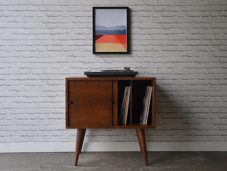 Eiden Record Storage Cabinet Mid Century Modern Inspired