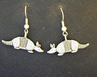 Sterling Silver Original Armadillo Earrings on Heavy Sterling Silver French Wires