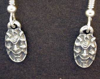 Sterling Silver Devil Earrings on Heavy Sterling Silver French Wires