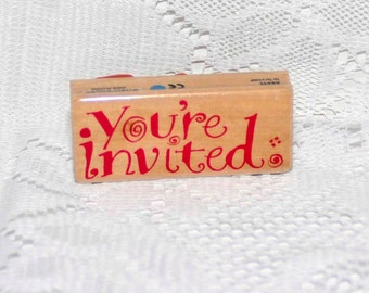 You're Invited -- 2004 Delta Rubber Stamp =  Destash
