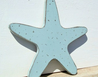 wood starfish nautical art