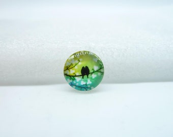 10pcs 12mm Handmade Photo Glass Cabochons (Bird) GB47-14