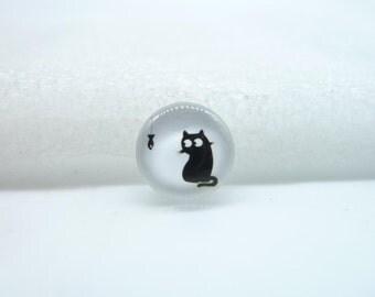 10pcs 12mm Handmade Photo Glass Cabochons(Cat) GB64-15
