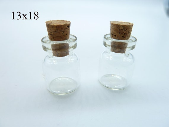 20pcs 13x18x6mm Clear Glass Tiny Wishing Drifting Bottle Vials Pendants With Corks/Free EyeHook Charm Pendant c4443
