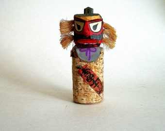 Vintage Japanese Tengu Totem / Kokeshi