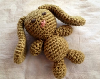 Mini Bunny Plush Toy/ Easter Bunny/ Mini Bunny Photo Prop/ Photography Prop/ Stuffed Toy / Soft Toy/Amigurumi Toy-  MADE TO ORDER