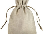 Linen Bags, Twelve 5X7 Natural Linen Gift Bags, Special Occasion Bags