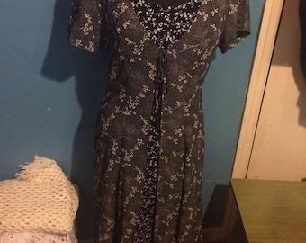 Vintage Dress. Black Dress. Flower Dress. All That Jazz.