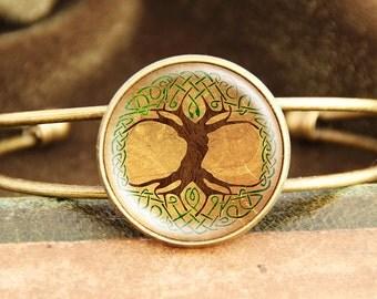 Celtic Tree of Life - Bangle Bracelet