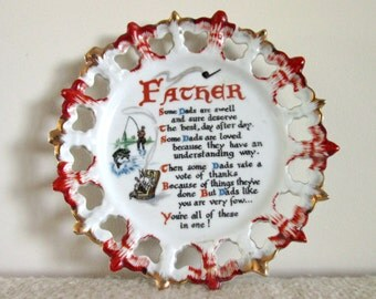Father, Vintage Gift Plate