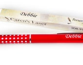 Personalized Pen Red with Sparkle Grip