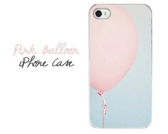 Balloon iPhone Case, Pink Balloon iPhone Cover, Balloon iPhone 6 Case, Balloon iPhone 5 Case, Pretty iPhone Case, Girly iPhone 6 Cover