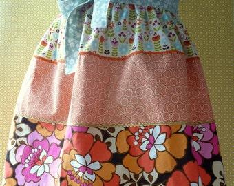 Patchwork half apron