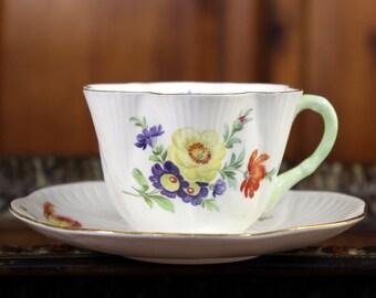 Shelley Tea Cup, Teacup and Saucer, Vintage English Bone China - 12009