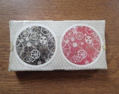Vintage boxed and sealed Waddingtons circular playing cards Rondo 2 packs