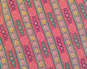 Pink Stripe Medium Weight Printed Denim Twill Fabric