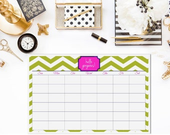 Custom Rewritable Laminated Desk Calendar/Blotter
