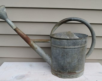 Vintage Galvanized Watering Can.