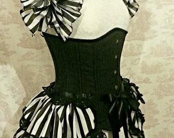 Halloween  Costume Bustle Skirt  and Shrug SET goth Steampunk