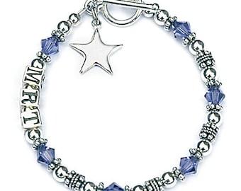 Initial Bracelet for Teenage Girls