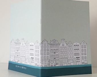 Amsterdam Journal, A5 Notebook, Blank Journal, Mint Green Journal, Travel Journal
