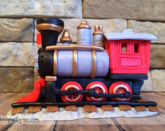 EDIBLE (Fondant Cake Toppers) - Vintage Train Inspired