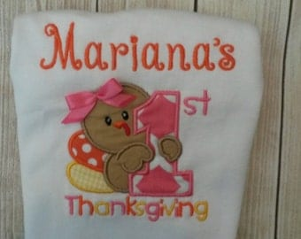 First Thanksgiving Bodysuit for babies and toddlers