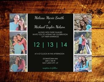 printable wedding invitations, custom wedding invitations, wedding announcement, photo wedding invitations, wedding invitations