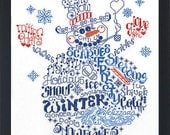LET'S BE JOLLY - Imaginating Cross Stitch Pattern - Frosty Winter Snowman counted cross stitch pattern chart needlework snowman cross stitch