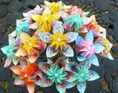 Rainbow Basket / Origami Flowers / Paper Flowers