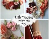 Crochet PDF Pattern Discount Pack - #15 PDF Patterns,crocheted summer necklace,bracelet,cuff,wrist warmers, crochet rose, vines