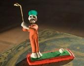Golfer Day of the Dead Mexican Folk Art