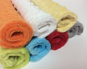 Baby Washcloths, Minky Washcloths, Set of 7, Colorful Baby Wipes, Gender Neutral Baby Gift