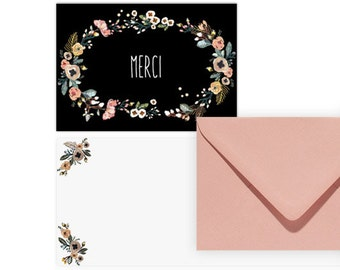 2 cards + envelopes - MERCI