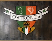 "Custom Pub Sign with Graphic and Optional Frame / 48"" x 30"""
