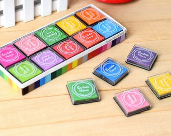 20 pcs/lot DIY Cute Plastic Ink Pad Stamp Inkpad for Decoration Album scrapbooking