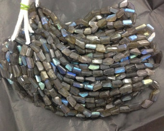 """Labradorite Nuggets or Tumbled shaped """"Laser cut"""" Faceted Beads, 10-16 mm , AAA quality"""