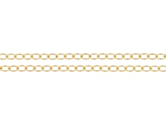 14kt Gold Filled 2.1 x 1.6mm Cable Chain - 20ft (2304-20)/1