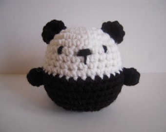 Crocheted Stuffed Amigurumi Panda Bear Ball