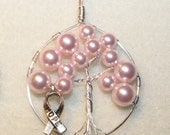 Breast Cancer Awareness Tree of Life  Necklace