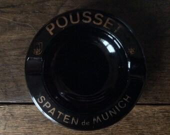 Vintage French Pousset Spaten de Munich Cigarettes Ashtray Tobacciana circa 1970-80's / English Shop