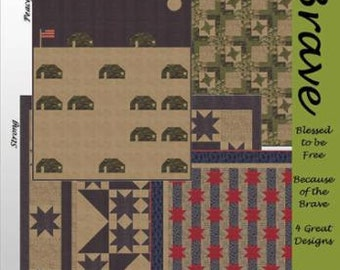 Brave Pattern with 4 Quilt Designs by Lavender Lime